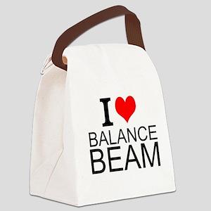 I Love Balance Beam Canvas Lunch Bag