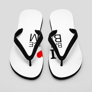 I Love Balance Beam Flip Flops