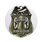 Riverside Police Ornament (Round)