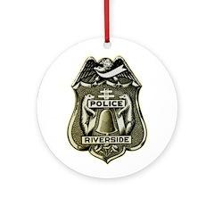 Riverside Police Ornament (Round)