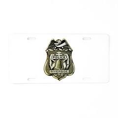 Riverside Police Aluminum License Plate