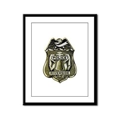 Riverside Police Framed Panel Print