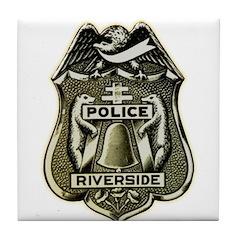 Riverside Police Tile Coaster