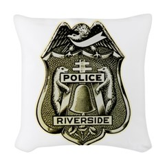 Riverside Police Woven Throw Pillow
