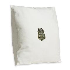 Riverside Police Burlap Throw Pillow