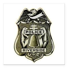 Riverside Police Square Car Magnet 3