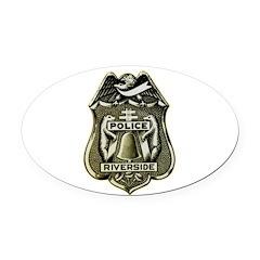 Riverside Police Oval Car Magnet