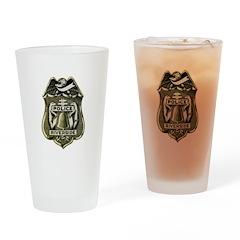 Riverside Police Drinking Glass