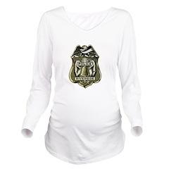 Riverside Police Long Sleeve Maternity T-Shirt