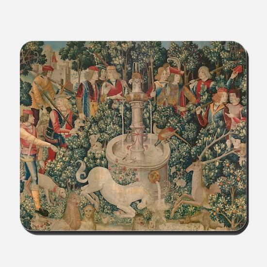 The Unicorn is Captured Mousepad