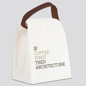 Coffee Then Architecture Canvas Lunch Bag