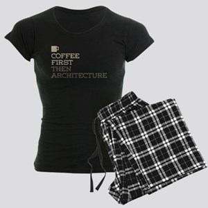 Coffee Then Architecture Women's Dark Pajamas
