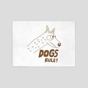 Dogs rule 5'x7'Area Rug