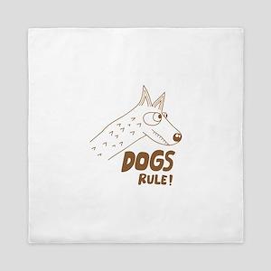 Dogs rule Queen Duvet