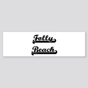 Folly Beach Classic Retro Design Bumper Sticker