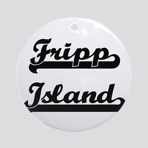 Fripp Island Classic Retro Design Ornament (Round)