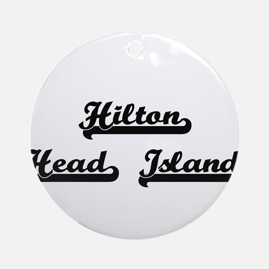 Hilton Head Island Classic Retro Ornament (Round)