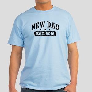 New Dad Est. 2016 Light T-Shirt