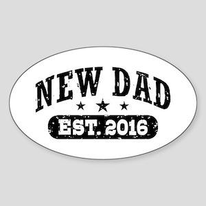 New Dad Est. 2016 Sticker (Oval)