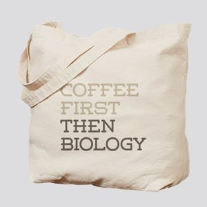 Coffee Then Biology Tote Bag