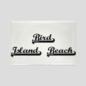 Bird Island Beach Classic Retro Design Magnets