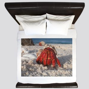 Friendly Hermit Crab King Duvet