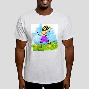 Happy Cartoon Girl T-Shirt