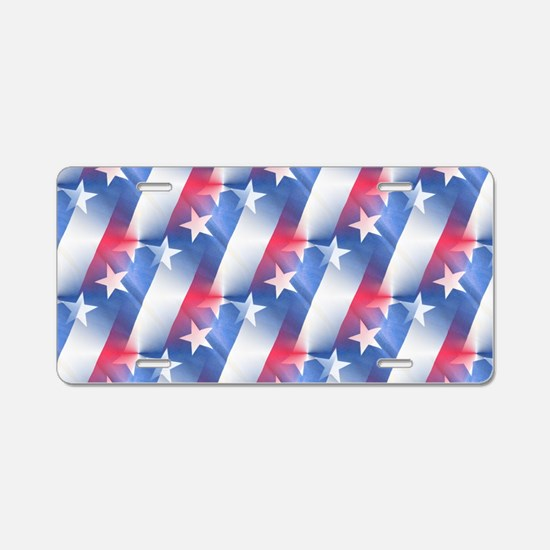 red white blue Aluminum License Plate