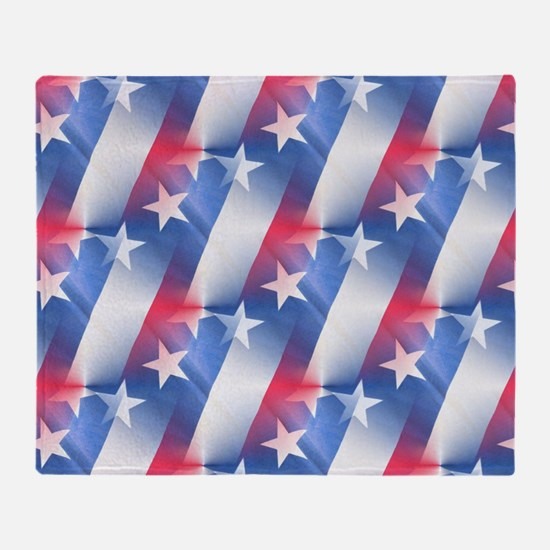 red white blue Throw Blanket