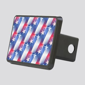 red white blue Rectangular Hitch Cover
