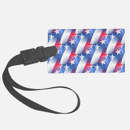 red white blue Luggage Tag