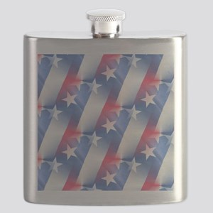 red white blue Flask
