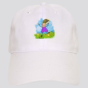 Happy Cartoon Girl Cap