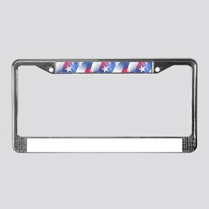 red white blue License Plate Frame