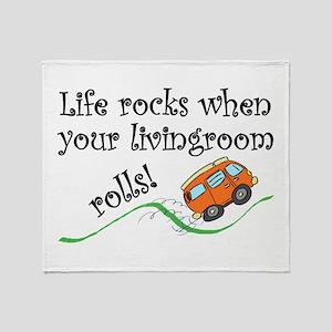 Life Rocks Throw Blanket
