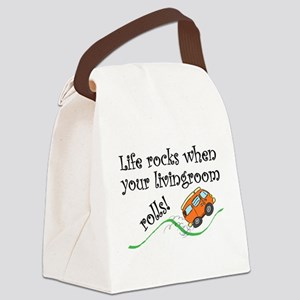Life Rocks Canvas Lunch Bag