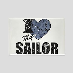 I Love My Sailor Magnets