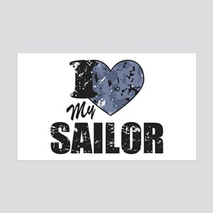 I Love My Sailor Wall Decal