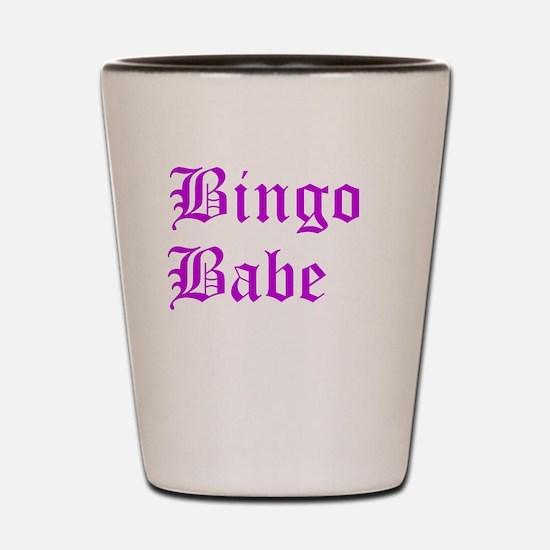 Bingo Babe Shot Glass