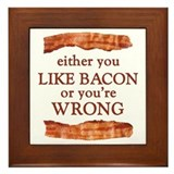 Either you love bacon Framed Tiles