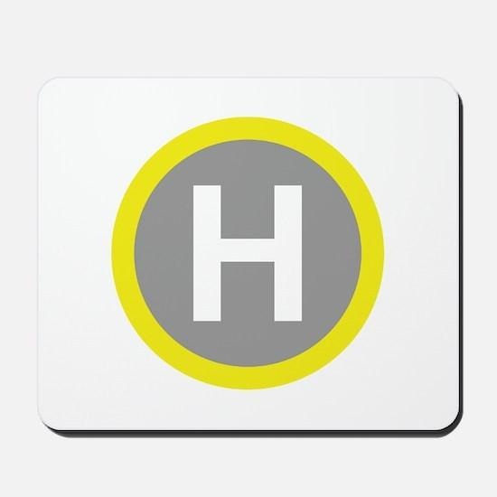 Helipad Sign Mousepad