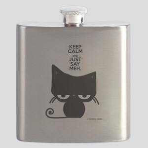 Keep Calm & Just Say Meh - Cat Flask