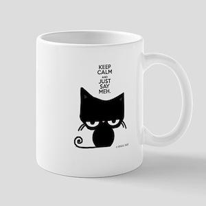 Keep Calm & Just Say Meh - Cat Mugs