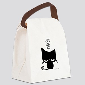 Keep Calm & Just Say Meh - Cat Canvas Lunch Bag