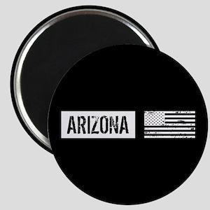 Black & White U.S. Flag: Arizona Magnet