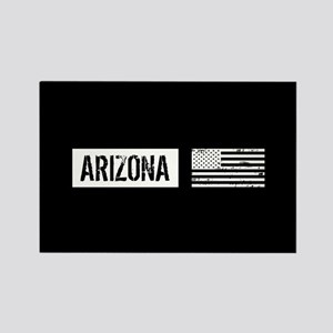 Black & White U.S. Flag: Arizona Rectangle Magnet