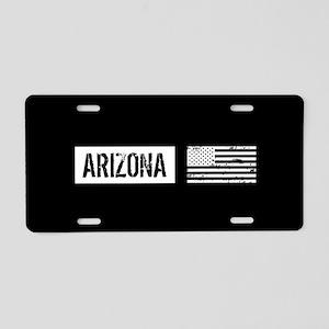 Black & White U.S. Flag: Ar Aluminum License Plate