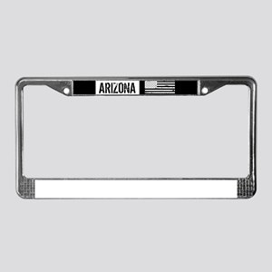 Black & White U.S. Flag: Arizo License Plate Frame