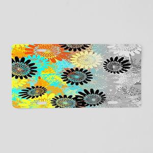 Fading Flowers Aluminum License Plate