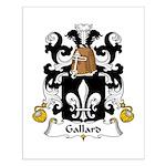 Gallard Family Crest Small Poster